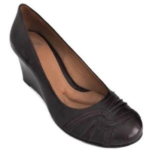 Women's Wedge Heels Brown Shoe 9.5 Cushioned  B1